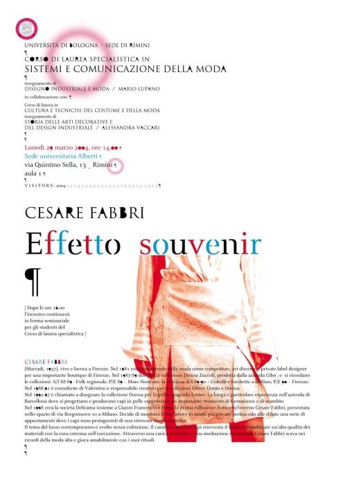 Cesare Fabbri – Effetto Souvenir