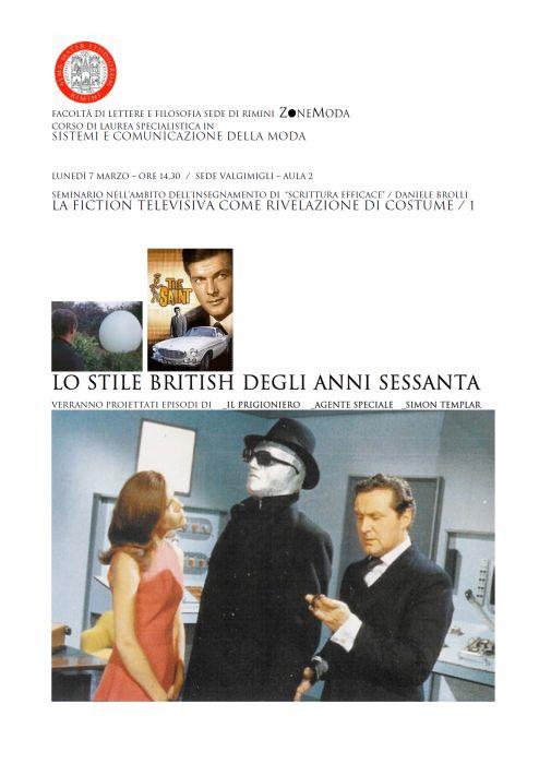LA FICTION TELEVISIVA COME RIVELAZIONE DI COSTUME: LO STILE BRITISH DEGLI ANNI SESSANTA