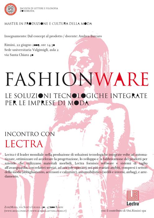 Fashionware – Incontro con Lectra