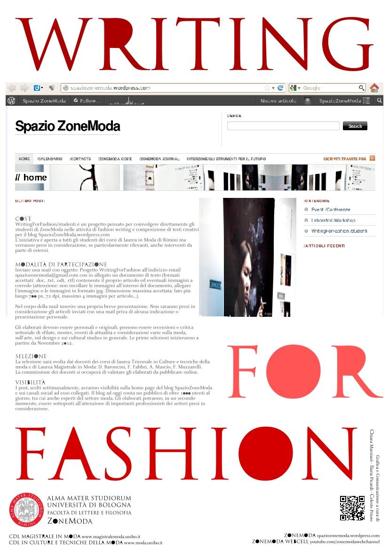 /Writing For Fashion / studenti