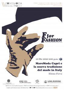 F for fashion MareModa Capri e la nuova tradizione del made in Italy